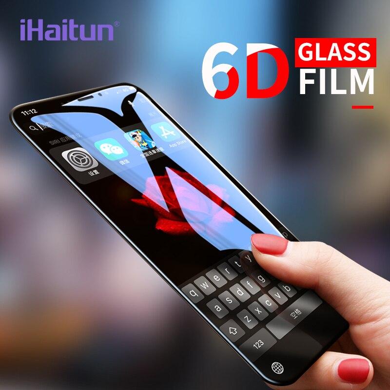 IHaitun 6D стекло для iPhone XS MAX XR X стекло холодная резьба изогнутое закаленное стекло для iPhone X 10 7 8 Plus Защитная пленка для экрана