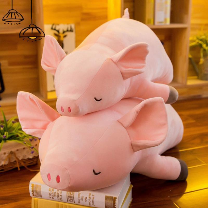 Peluche de cerdo de algodón suave de peluche de juguete Rosa niñas niños Linda almohada muñeca bebé Appease Kawaii dormir Brinquedo