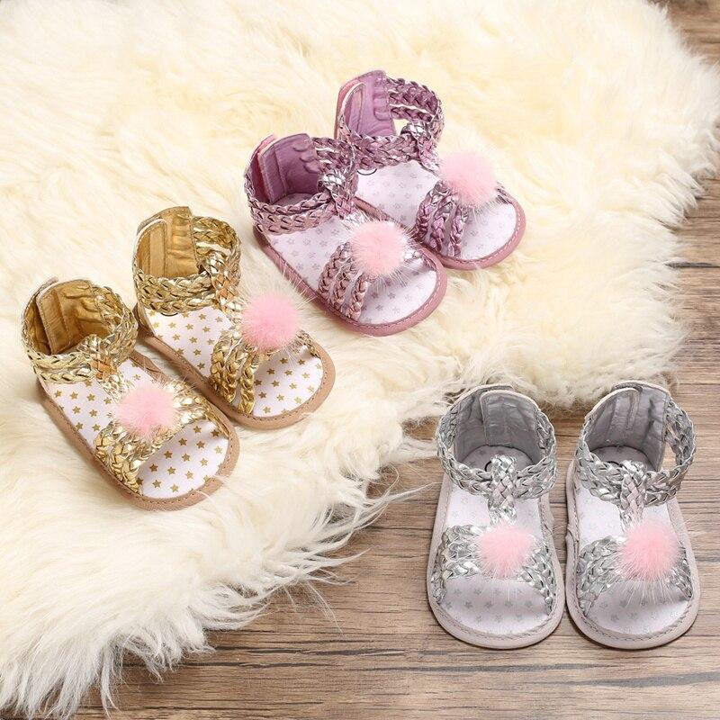 Brand New Newborn Infant Baby Girl Bow Non-slip Princess Shoes Summer Sandal Prewalker 2019 Summer F