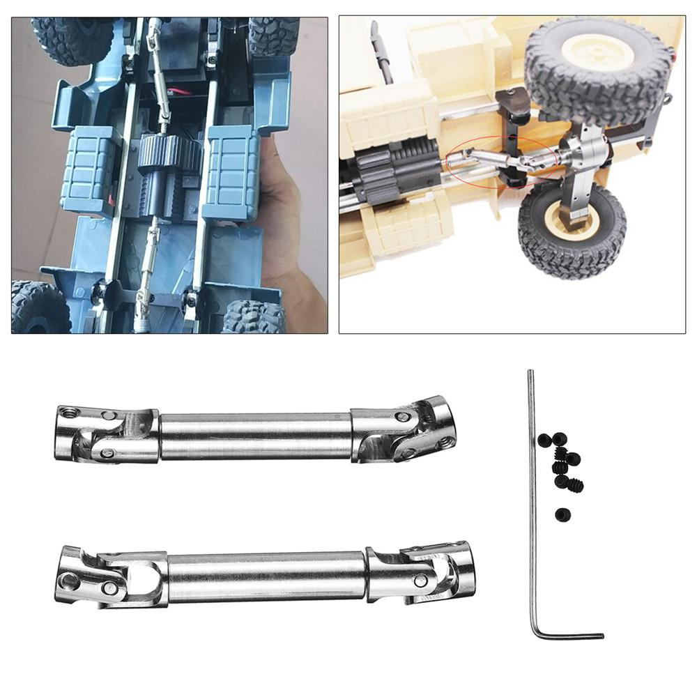 RCtown 2Pcs Upgrade Parts Silver Metal Drive Shaft for WPL HengLong 1/16 RC Crawlers Car Spare Parts