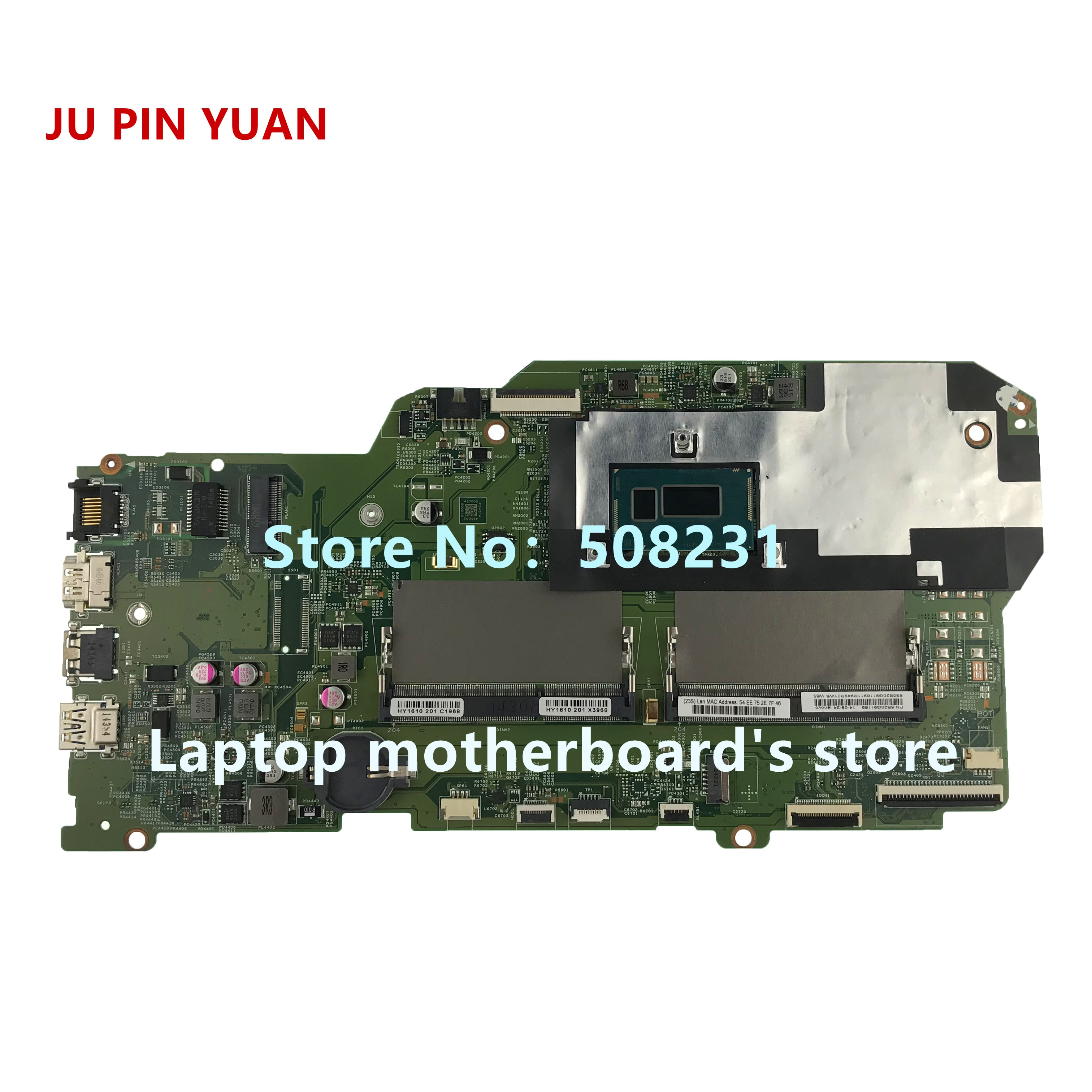 JU PIN YUAN 448.03G01.0011 5B20Q91169 материнская плата для Lenovo Flex 2 Pro Edge 15 материнская плата для ноутбука со стандартным процессором полностью протестирована