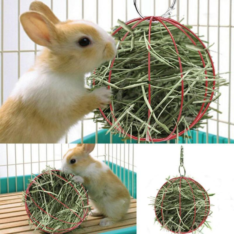 Vorm Gras Feeder Tool Kribbe Voedsel Bal Konijn Hamster Gras Rack Hamster Kooi Opknoping Decor Hamster Speelgoed Plating Huisdier Hooi bal