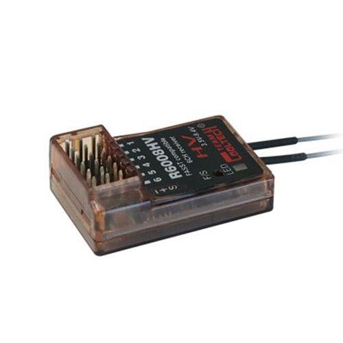 R6008HV-A Cooltech 6 canales compatible FASST receptor para Futaba 6EX 7C 8C 10C sistemas de aire 7CH modo Multi Modo