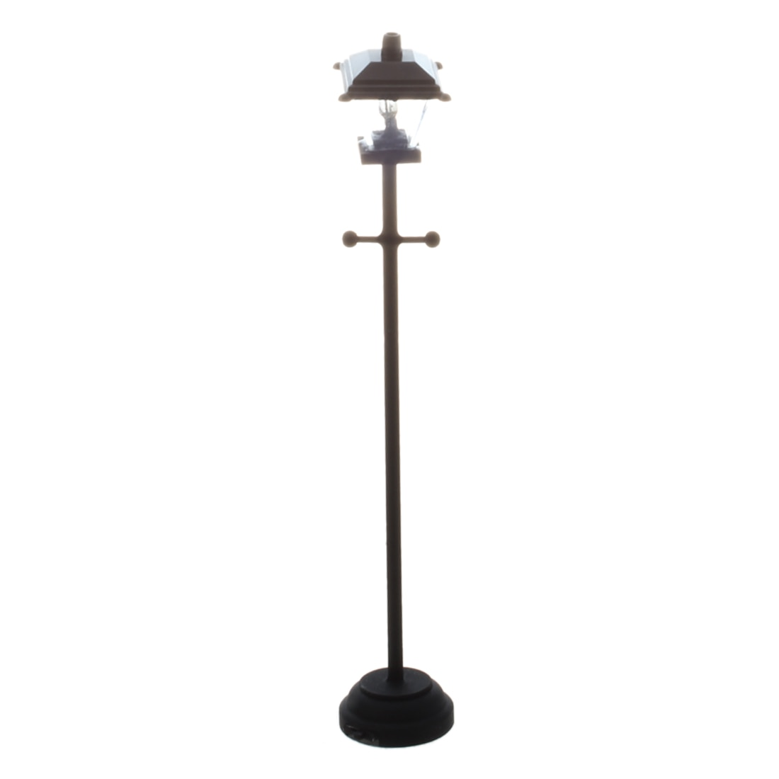 Farola LED para casa de muñecas en miniatura 1/12-Negro
