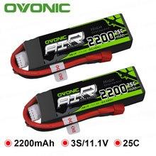 Batería OVONIC LiPo RC 2200mAh 3S 11,1 V 25C Max 50C, paquete de batería con enchufe XT60 T para Phantom FC40, Walkera E22 de repuesto para coche de barco a control remoto