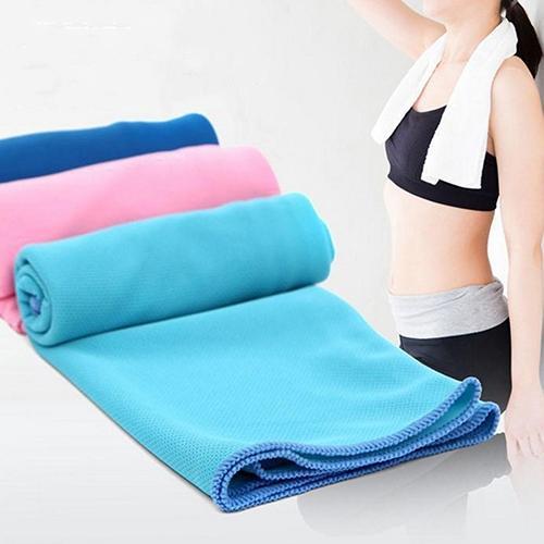 Nueva Toalla de microfibra para deportes de 35x85 cm, toalla refrescante instantánea para gimnasio, Fitness, toalla mágica de enfriamiento rápido para natación, toalla de Yoga fresca de hielo rápido