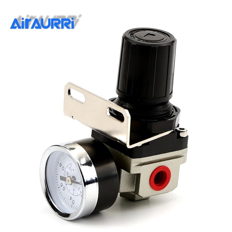 SMC Тип регулятор давления Давление клапан регулирования AR2000-02 G1/4 ''пневматический Мини Воздушный Давление регулятор подразделения обработк...