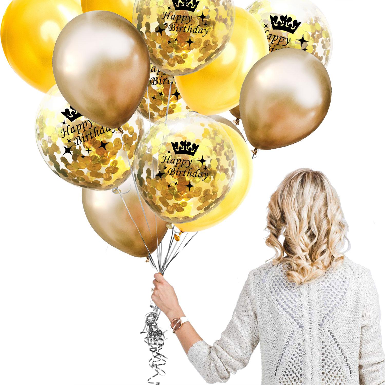 ZLJQ Birthday Decorations Balloon 30 40 50 60 70 80 90th Confetti Balloons For 16 18 21 Years Old Birthday Decoration Supplies