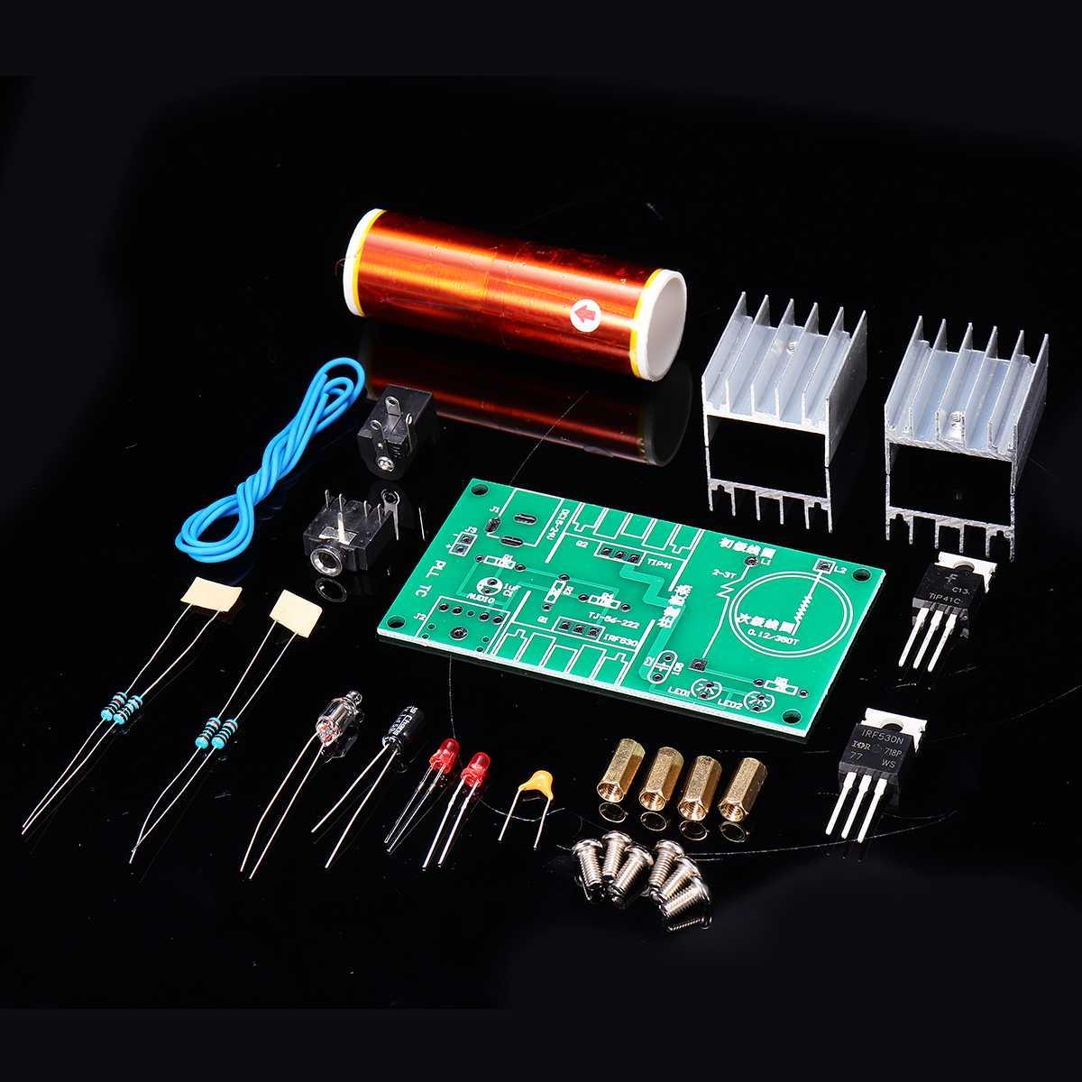 CLAITE 15W DC 15-24V 2A DIY Mini bobina módulo sin montar altavoz electrónico Kit resonante transformador altavoz