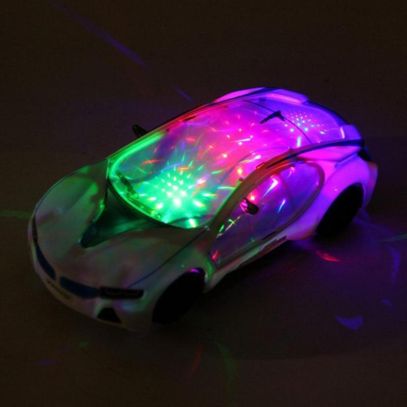 Juguete eléctrico de supercoche en 3D con luces de rueda, musical, musical, para niños y niñas, regalo, coche de juguete eléctrico Universal