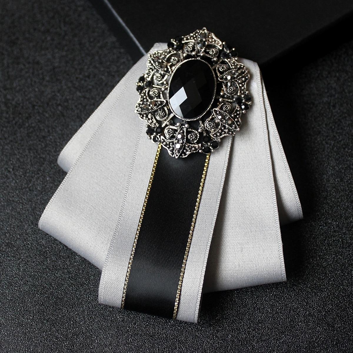 New men's groom groomsmen dress shirt gentleman bow tie High quality diamond business men's party bow tie