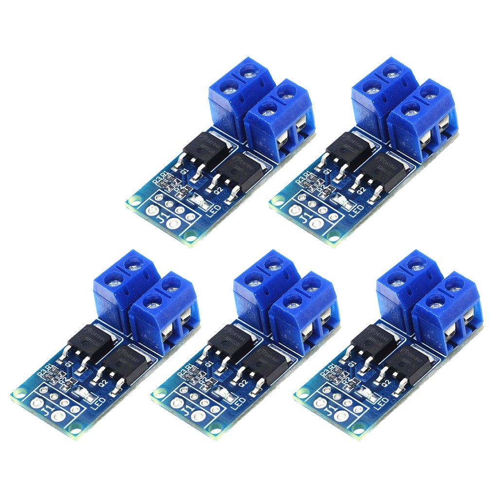 5 peças 15a mos interruptor de gatilho módulo driver fet pwm regulador de alta potência interruptor eletrônico placa de controle dc 5 v-36 v