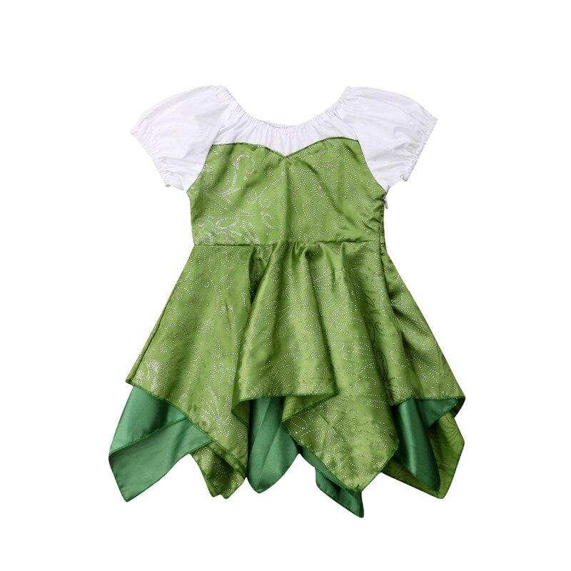 Ropa de niña princesa 6 M-3 T viste vestidos de fiesta de boda graduación cumpleaños niñas niños etapa brillante tela de noche verde vestido Irregular
