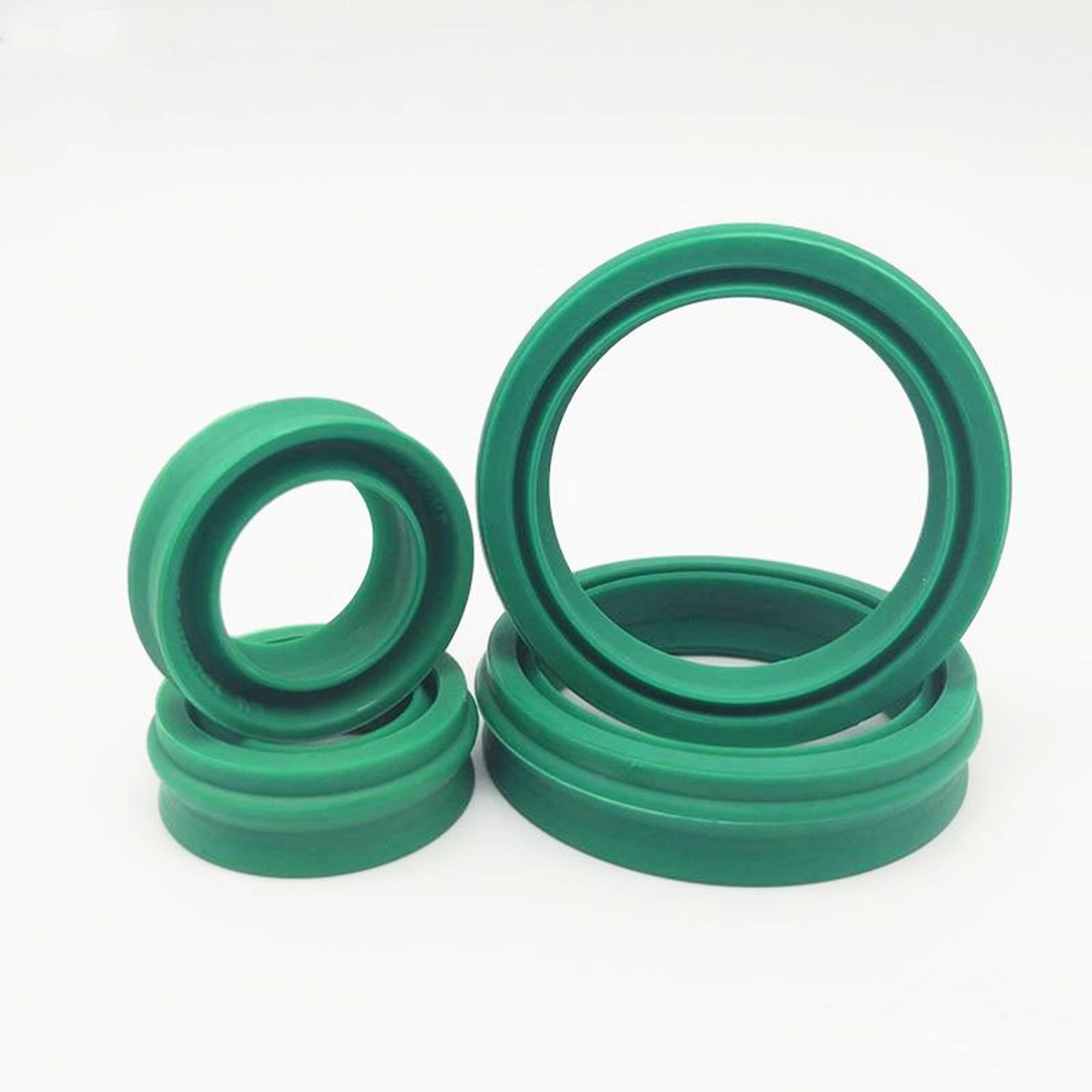 I/D 12/14/16/18/20/22/25/30/40/45/50/63mm tipo europeo sello de aceite verde pistón del cilindro neumático eje giratorio PU poliuretano