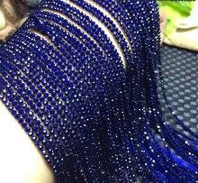 Perles en vrac vert/rose/bleu/spinelle ronde à facettes 2/3/4mm nature 14 pouces pour la fabrication de bijoux collier bleu arc-en-ciel FPPJ vente en gros