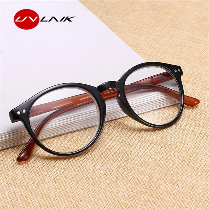 UVLAIK небьющиеся очки для чтения для женщин и мужчин ультралегкие усталость круглые очки по рецепту PC пресбиопическая Лупа