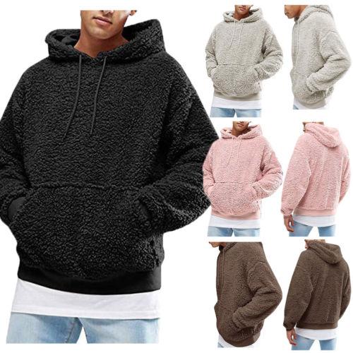 ¡Novedad! sudadera para pareja de manga larga Unisex para hombre y mujer, sudadera para Otoño e Invierno cálida, jersey de lana informal con capucha