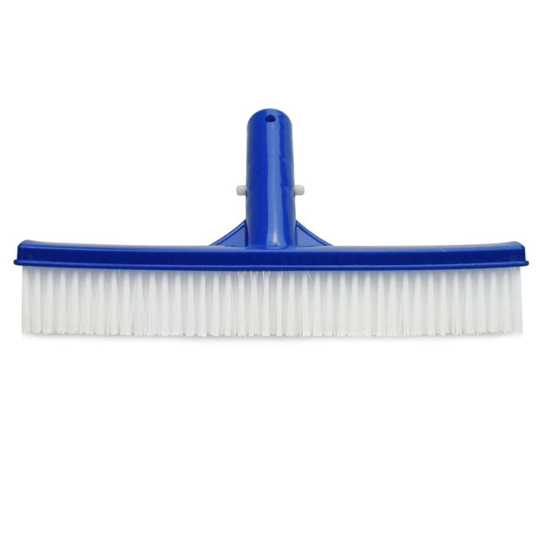 ¡Promoción! Cepillo de plástico para piscina de 10 pulgadas de ancho, duradero, herramienta de limpieza de pared para suelo de piscina, escoba para piscina, limpiador de algas con fuerte C