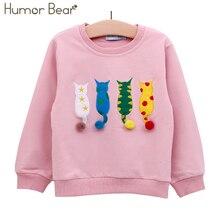 Humor ours enfants pull automne à manches longues T-shirt garçon fille enfants vêtements dessin animé marque enfant manteau vêtements dextérieur 2-6Y