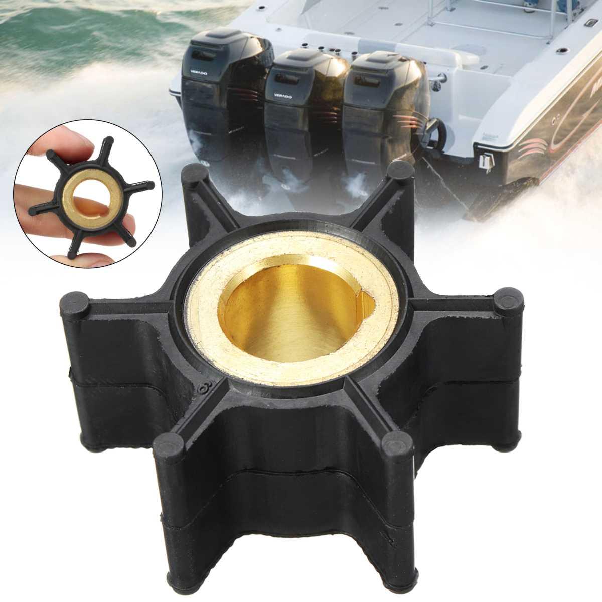 389576 436137 рабочее колесо водяного насоса для Evinrude Johnson 4HP-8HP подвесной мотор 6 лопастей черный резиновый диаметр 38 мм аксессуары