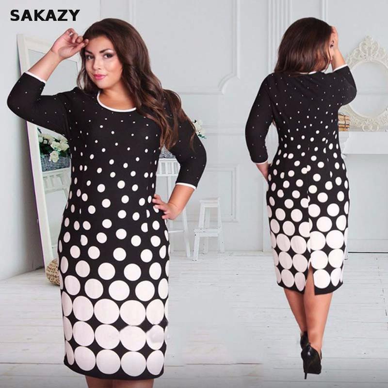 Big Size Fashionable Women Dresses New 2020 Summer Plus Size Women Clothing 6xl Dress Casual O-neck Plaid Office Bodycon Dress
