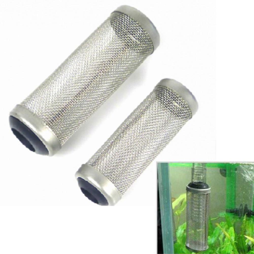 LVOERTUIG всасывающий фильтр для аквариума, сетчатый фильтр из нержавеющей стали с сеткой для рыбных креветок 12 мм/16 мм (16 мм)