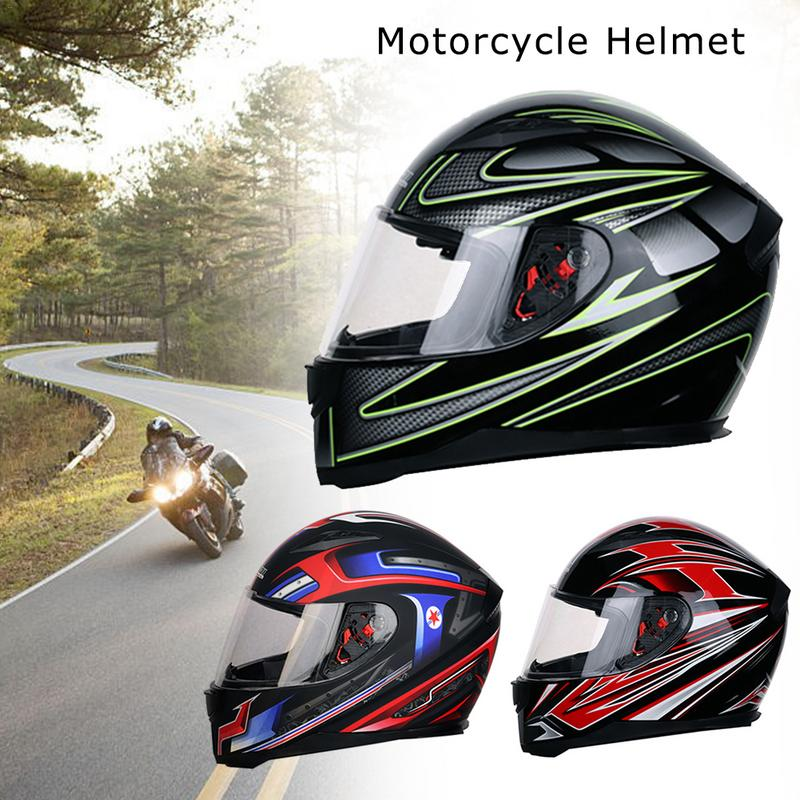 Casco de la motocicleta Unisex de seguridad casco a prueba de golpes protección UV Universal casco lente de la PC