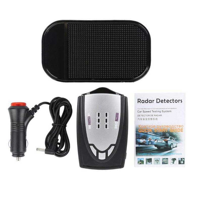 Радар-детектор скорости, автомобильный радар-тестер 360 градусов, 16-полосный радар-детектор с поддержкой английского и русского языков