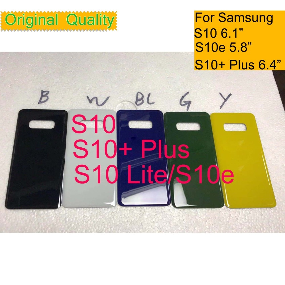 50Pcs/lot For Samsung Galaxy S10 G973 S10e G970 S10 Plus S10+ G975 Housing Battery Cover Back Cover Case Rear Door Chassis Shell enlarge