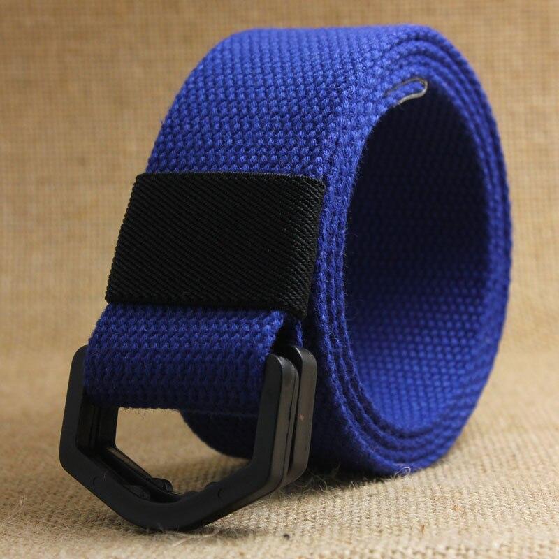 Mode Unisex Leinwand Gürtel Stoff Gurtband Taille Casual D Ring Plain Leinwand Gürtel Bund Outdoor Web Gürtel Mit Kunststoff Schnalle