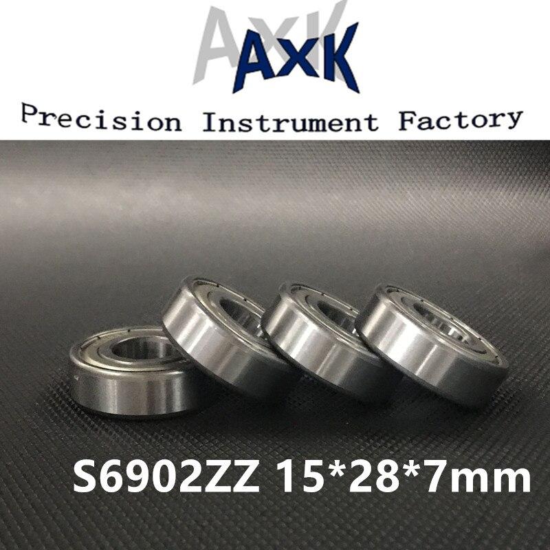 2021 تعزيز بيع S6902zz Abec-3 (10 قطعة) 15x28x7 مللي متر الفولاذ المقاوم للصدأ الكرة محامل S6902z S61902z