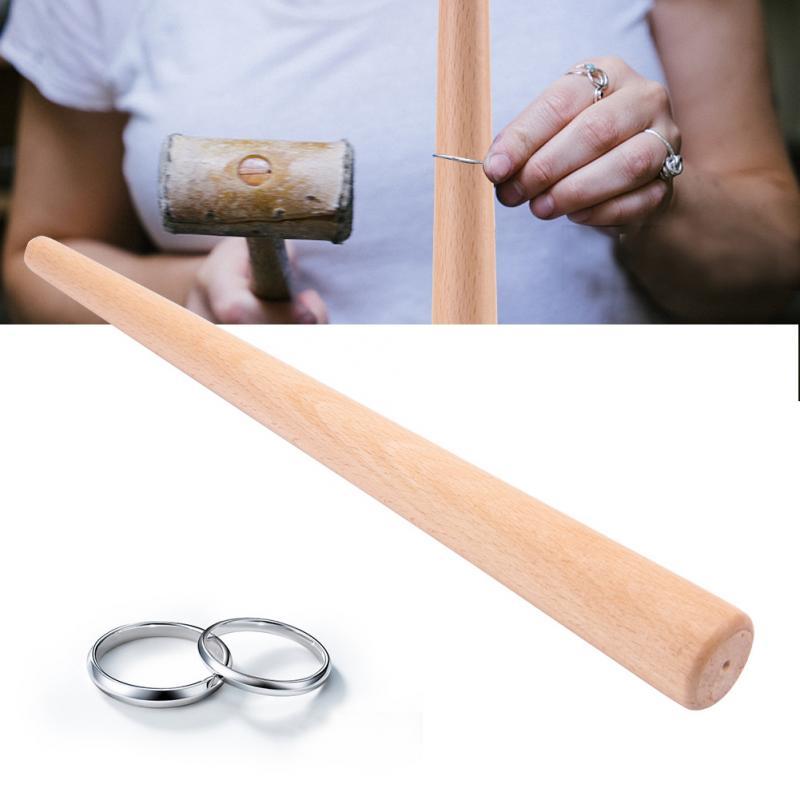 Palo de mandril cónico de madera herramienta para anillo de dedo anillos de joyería que hacen tamaños que forman anillo de medición de pulido herramientas de joyería