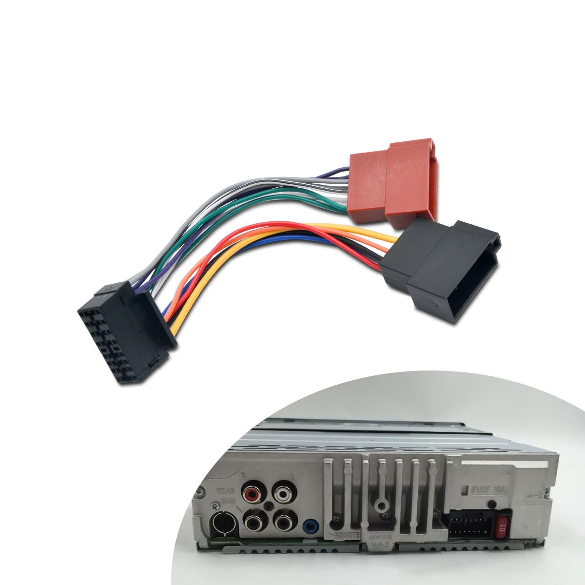 AliExpress - ISO Wiring Harness Connector Adaptor For SONY 16 Pin Car Stereo Radio Lead loom