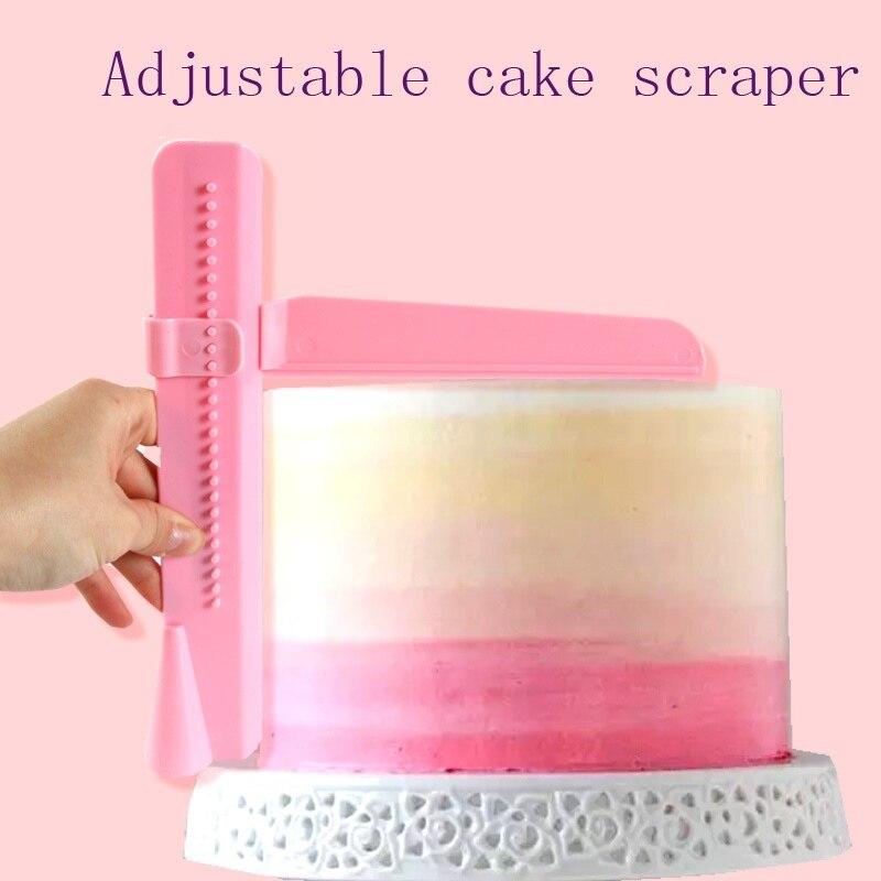 2020 nowy regulowany narzędzie do wygładzania ciasta narzędzie Cutter dekorowanie gorące ciasto jastrychu skrobak kremówka Sugarcraft oblodzenie Mold domu deser narzędzie