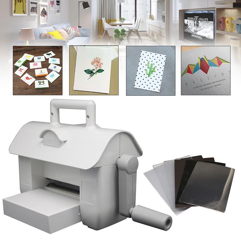DIY troqueles de corte en relieve máquina de Scrapbooking troqueles cortador Tarjeta de papel troquelado máquina hogar troquelado herramienta blanca