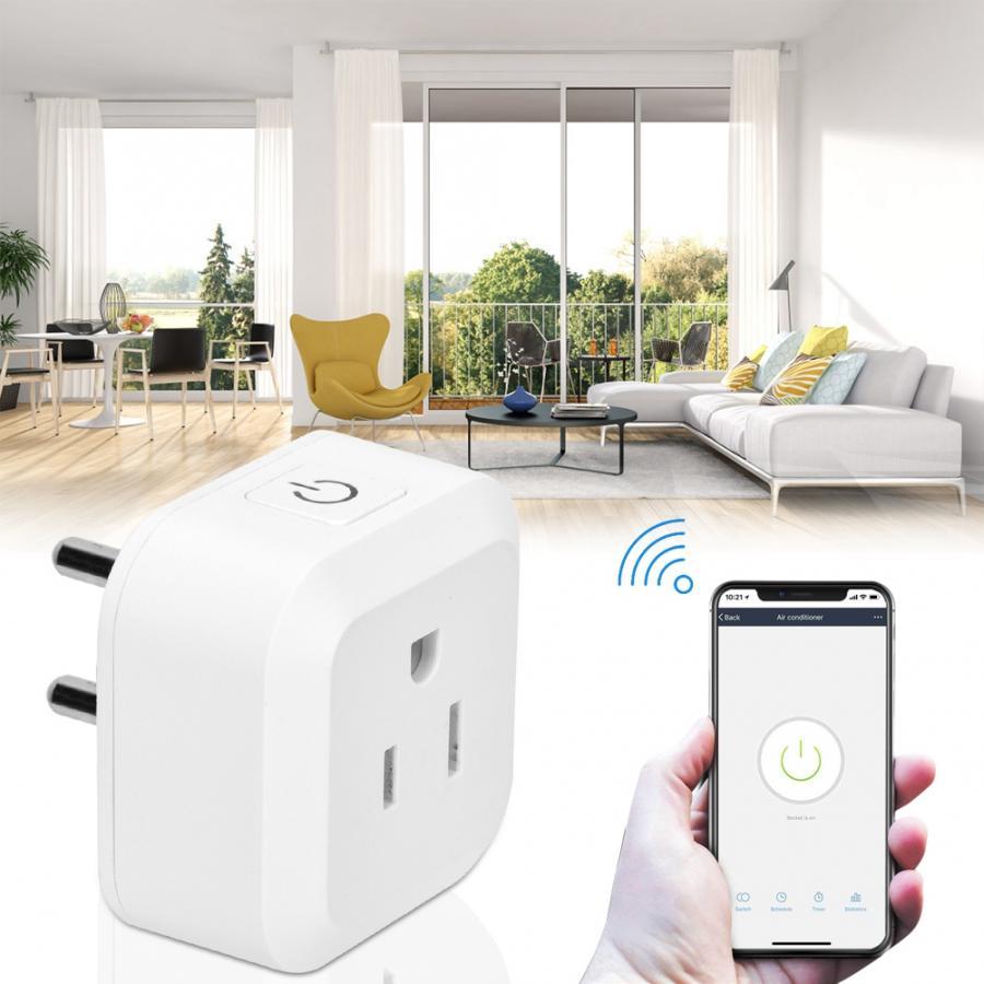 100-250V Wifi Mini Wireless Smart Power Socket Support Voice Remote APP Control enchufe retractil US EU socket
