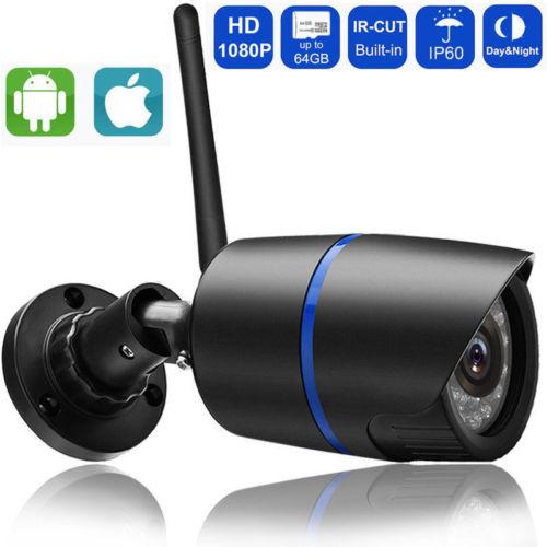 Wireless 1080P/720P HD WIFI IP Network Camera CCTV Outdoor Security IR Night Video Camera
