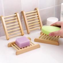 Organiseur de rangement de la maison   Porte-savon en bois naturel, accessoires de salle de bain, porte-savon Portable Durable 1 pièce