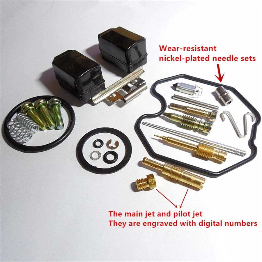 Kits de reparación de carburador PZ30 para CG250CC ATV, bolsa de reparación de motocicletas (con boquilla plateada de níquel resistente al desgaste)