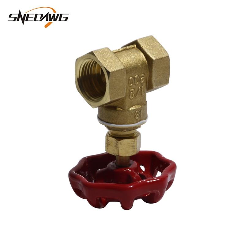 Bronze Da Válvula Da Tubulação DN15 DN20 DN25 Shutoff Válvula Da Tubulação de Água Rosca Fêmea 1/2 3/4 1 Cobre válvula Da tubulação