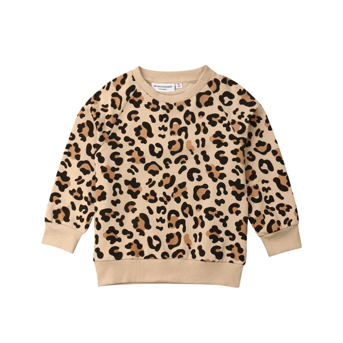 1-7 años Niño pequeño chico niña niño conejito Top con estampado de leopardo camiseta sudaderas ropa