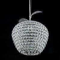 Modern Apple stainless steel led lamps crystal Pendant Lights bedroom lamps led luster light crystal restaurant Pendant lamps