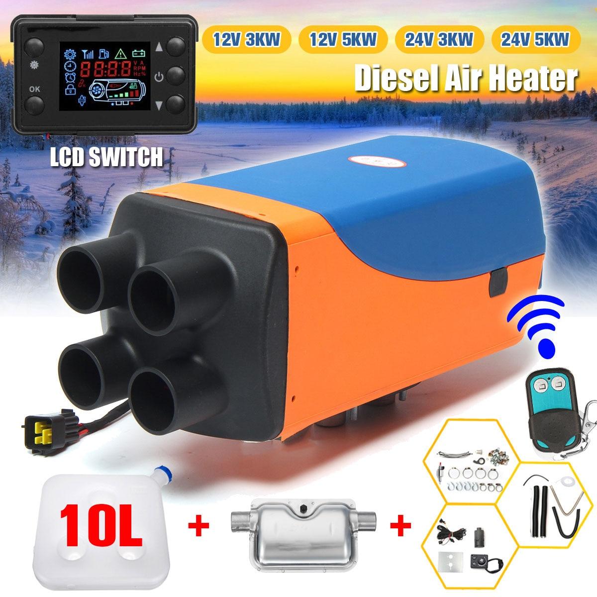 12 v/24 v 3kw/5kw diesels aquecedor de ar do carro aquecedor de estacionamento diesels aquecedor de ar com controle remoto display lcd para reboque motorhome