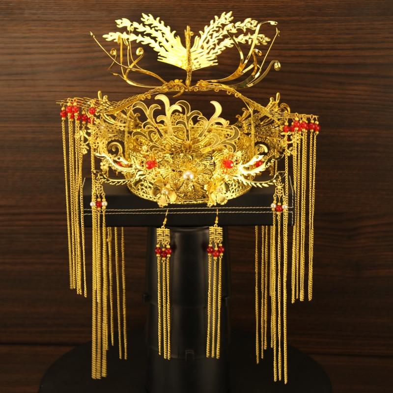 T07 Роскошный старинный свадебный головной убор для невесты ювелирный набор