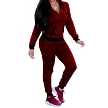 Spring Women's 2 Piece Set Sport Suit Lady Hoodies Zipper Sweatshirt Tops And Jogger Pants Female Long Sleeve Casual Tracksuit
