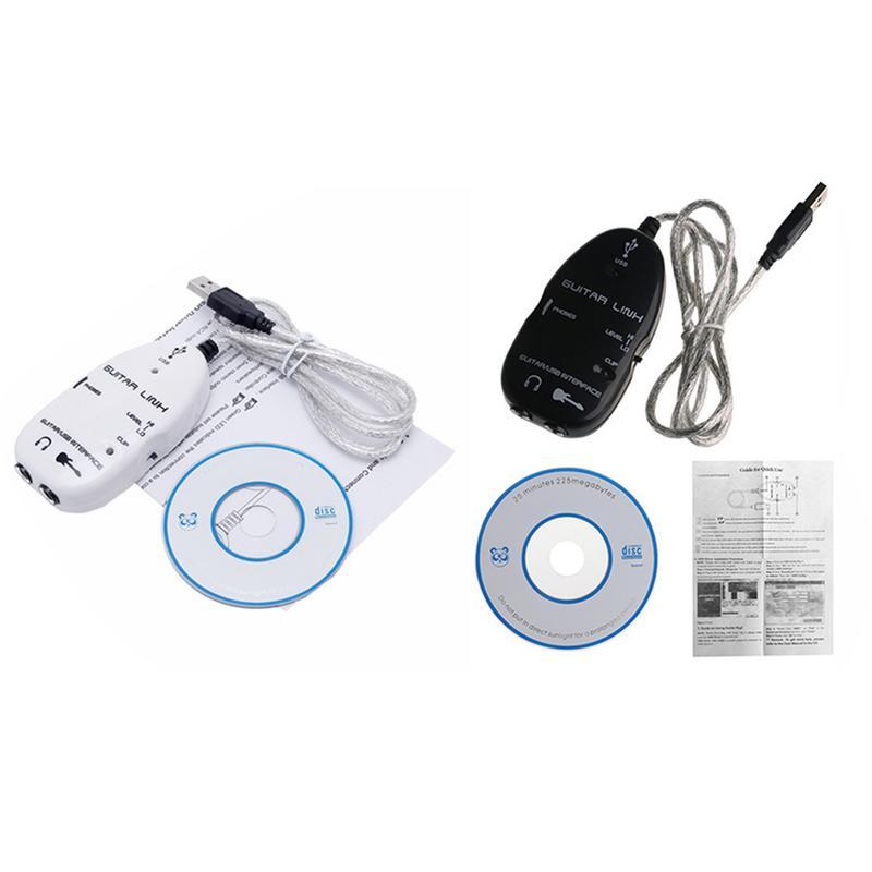 Cable adaptador de enlace de interfaz USB de guitarra eléctrica para MAC/PC Mac grabadora accesorios de guitarra conjunto de conexión de grabación