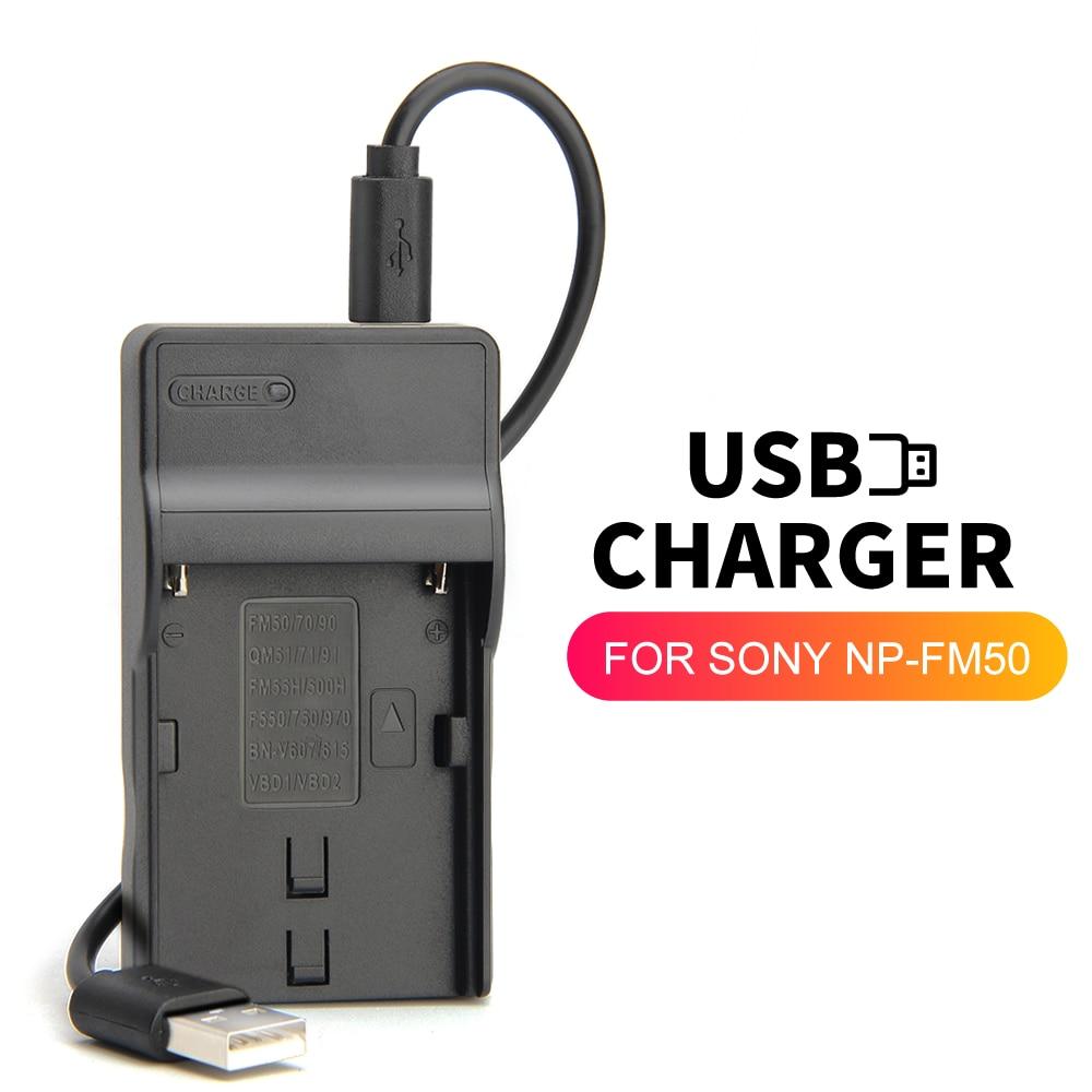 NP-FM500H BC-VM10 cargador de batería para cámara SONY Alpha SLT-A57 A58 A65...