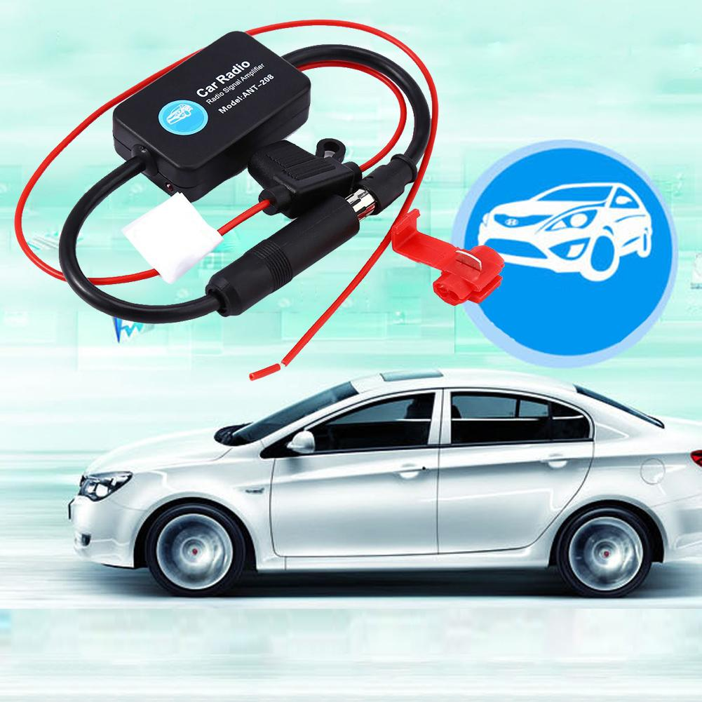 Amplificador de señal de Radio FM para coche amplificador de FM para coche Ant-208 amplificador de señal de Radio para coche con pegatina 3M