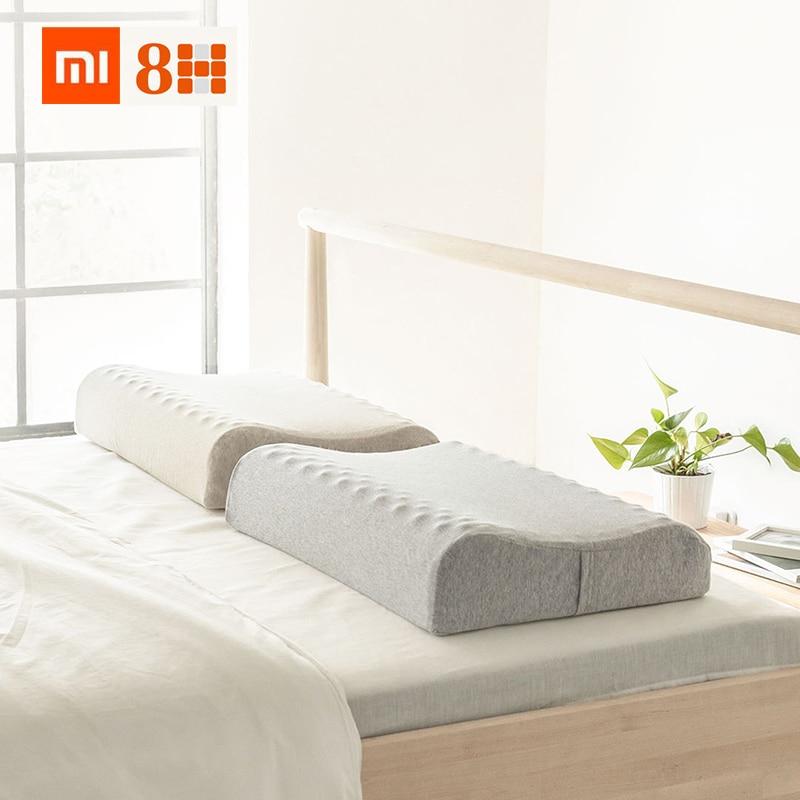 Xiaomi 8h 60x40cm Natural Latex Massage Pillow Spa Z3 Sleeping Cervical Massage Pillow Health Neck Bonded Head Care Pillow Case