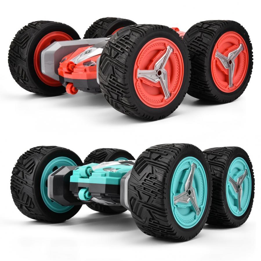 Coche de juguete todoterreno con Control remoto de transformación 698A 2,4G 360 grados rodante gran tamaño doble cara coche de acrobacias